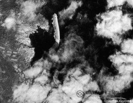 Крушение Costa Concordia. Фото со спутника. Видео до трагедии. Видео после аварии.